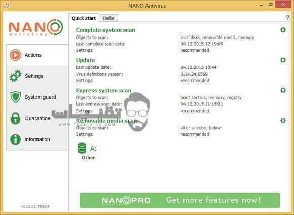 برنامج nano لإزالة الفيروسات والتعامل مع البرامج الخبيثة