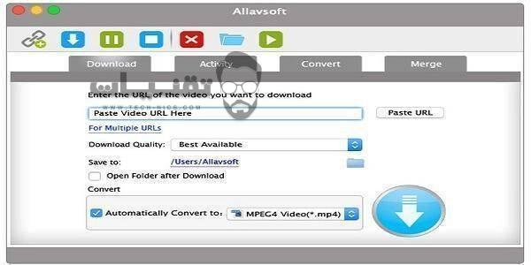 تحميل برنامج Allavsoft للكمبيوتر
