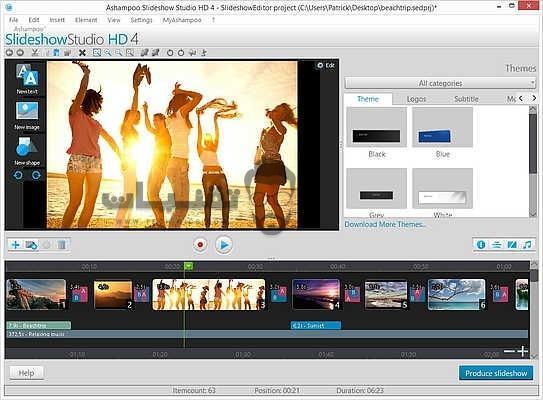 تحميل برنامج Ashampoo Slideshow Studio HD للكمبيوتر