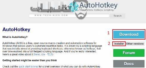 تحميل برنامج AutoHotkey للكمبيوتر