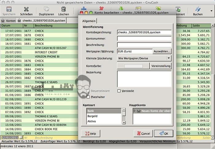 تحميل برنامج GnuCash للكمبيوتر