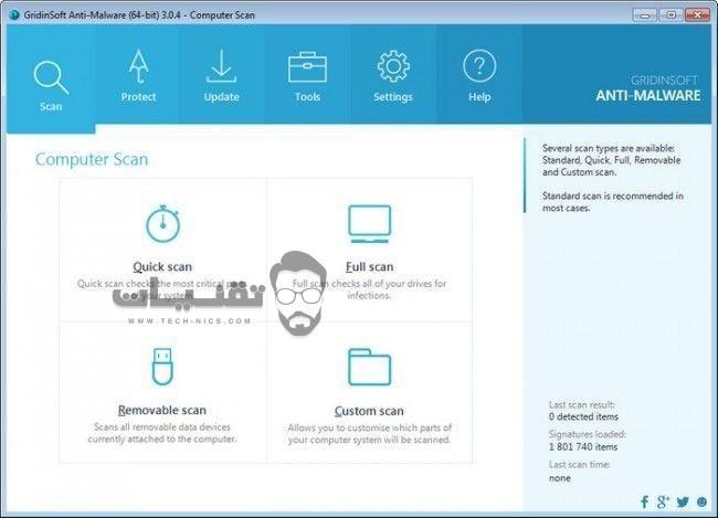 تحميل برنامج GridinSoft Anti-Malware للكمبيوتر