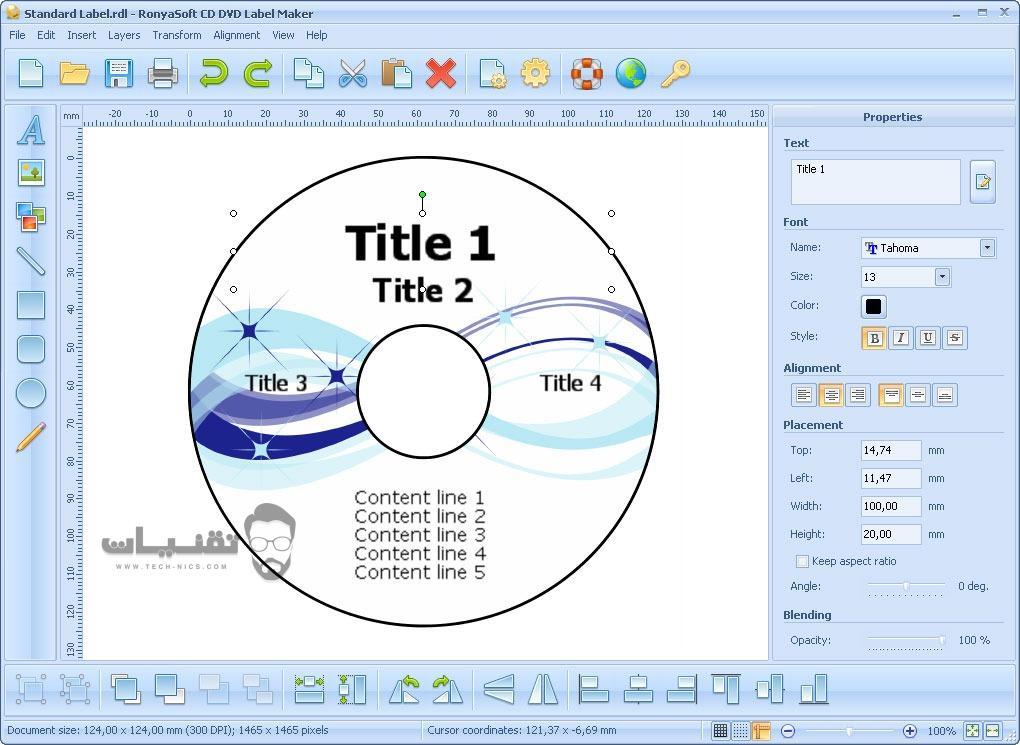 تحميل برنامج RonyaSoft CD DVD Label Maker للكمبيوتر