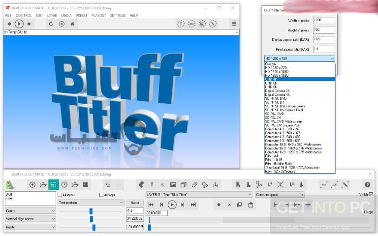 تحميل برنامج BluffTitler للكمبيوتر